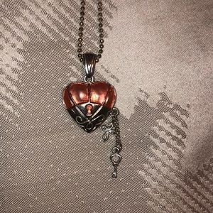Pink Hearted Brighton Necklace